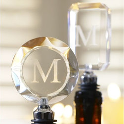 Bohemian Bottle Stoppers - Monogrammed wine stoppers make a great gift your entertainer friends will use again and again.