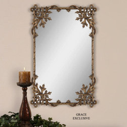"12757 Traditional Non-Rectangle Mirrors by uttermost - Get 10% discount on your first order. Coupon code: ""houzz"". Order today."