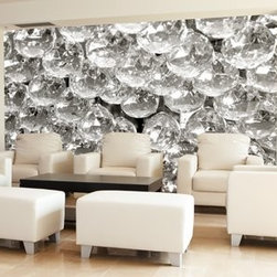 Modern Wallpaper - Bling wallpaper in a contemporary living room.
