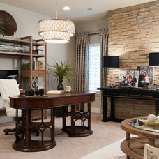 Transitional Home Office by PT Designs Inc. Paula Tranfaglia - Decorating Den
