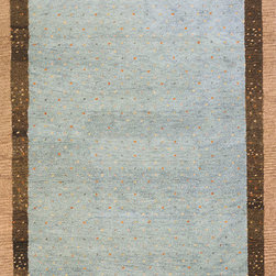 Desert Gabeh DG-01 Slate Rug - 8'x11' - Made in the tradition of Gabbehs from the foothills of Iran, our Desert Gabbeh collection is hand-knotted in India of 100% wool, but given a modern twist with its warm color palette and designs.