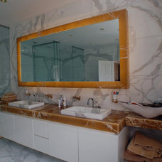 Contemporary Bathroom Mirrors by Ogle, luxury kitchens, Bathrooms & Stonework