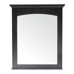 "Avanity - Westwood 28 x 33"" Mirror - Dark Ebony - The Westwood 28 in. x 33 in. chinese oak framed mirror features a dark ebony finish with a simple transitional design. It matches the Westwood vanity for a coordinated look and includes mounting hardware that makes leveling easy. The mirror hangs vertically and includes a wood base shelf for your bath essentials.; Birch solid wood in Dark Ebony finish; Beveled mirror; Hangs Vertical; Wood shelf; Wood cleat at back for easy hanging; Dimensions:28""W x 33""H"