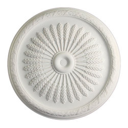uDecor - MD-9205 Ceiling Medallion - Ceiling medallions and domes are manufactured with a dense architectural polyurethane compound (not Styrofoam) that allows it to be semi-flexible and 100% waterproof. This material is delivered pre-primed for paint. It is installed with architectural adhesive and/or finish nails. It can also be finished with caulk, spackle and your choice of paint, just like wood or MDF. A major advantage of polyurethane is that it will not expand, constrict or warp over time with changes in temperature or humidity. It's safe to install in rooms with the presence of moisture like bathrooms and kitchens. This product will not encourage the growth of mold or mildew, and it will never rot.