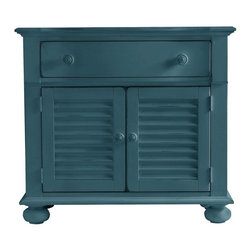 Stanley - Coastal Living Retreat Summerhouse Chest, English Blue - Versatile and beachy, this chest provides bedside style.