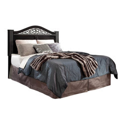 Standard Furniture - Standard Furniture Odessa Black Poster Headboard in Black - King - Richly endowed Odessa has abundant details and lavish finishes for a distinctive traditional look.