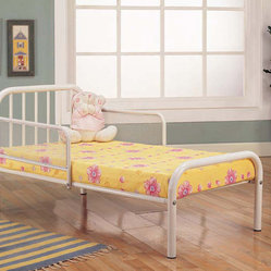 White Finish Toddler Bed