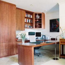Eclectic Home Office by Ernesto Garcia Interior Design, LLC