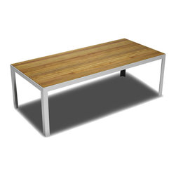 B&T Design - Elusive Table, Natural Wood Veneer Top with Metal Base, X-Large - Elusive Table