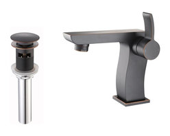 Kraus - Kraus KEF-14601-PU11CH Sonus Single Lever Basin Faucet, Oil Rubbed Bronze, 5.4 X - At Kraus, we use various elements of design to impress and make a statement in order to turn your private space into a truly unique one