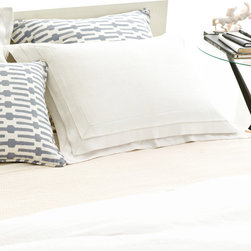 Pine Cone Hill - PCH Pleated Linen White Pillow Sham - The Pleated Linen pillow sham is at once casual and divine, with an exquisite 3-tiered pleat. Create a beautiful modern bed with this soft and perfectly simple accent from PCH. Available in standard and euro sizes; 100% linen; White; Envelope closure; Pillow insert not included; Designed by Pine Cone Hill, an Annie Selke company; Machine wash cold, tumble dry low; Do not bleach