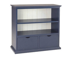 Newport Cottages Books and More Cabinet - Don't you adore this storage piece with its versatility? From open shelving to drawers, this sturdy hardwood piece comes in several several colors with an option of painting the inner part a contrasting color.