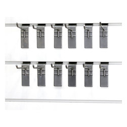 None - Proslat 4-inch Single Hook (Pack of 12) - Store baseball gloves to brooms and anything in between on a Proslat 4-inch universal hook. Made from solid steel, these hooks are designed to work best with with Proslat's patented, award-winning Slatwall panels (sold separately).