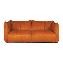 Roddy Sofa - The Roddy Sofa features 100% top grain cowhide. Shown in Luxor Cognac, this sofa is available in several different textures and colors.