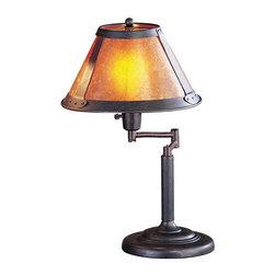 "Cal Lighting - Cal Lighting BO-462 60 Watt 18"" Craftsman / Mission Metal Swingarm Table Lamp wi - 60 Watt 18"" Craftsman / Mission Metal Swingarm Table Lamp with On/Off Switch and Round Mica ShadeSpecifications:"