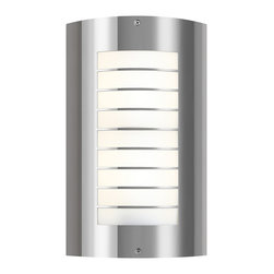 Kichler 2-Light Outdoor Wall Lantern - Polished Stainless Steel Exterior - Two Light Outdoor Wall Lantern