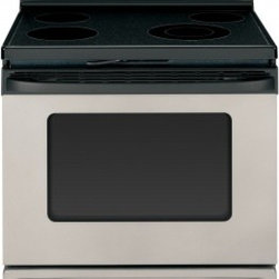 """Hotpoint - RB790SRSA 30"""" Freestanding Electric Range with 4 Open Burners  4.5 cu. ft. Capac - The super-large45 cu ft oven capacity of the Hotpoint 30 in Self-Cleaning Freestanding Electric Range helps you cook dishes for everyday family meals dinner parties and almost anything in between Self-cleaning to help you save time and effort the ran..."""