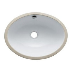 """Kingston Brass - White China Undermount Bathroom Sink with Overflow Hole - Finest china material made undermount sink is perfect way to bring a bright new look to your bathroom.; High chemical and thermal shock resistance; Stain resistant and easy-to-clean; Standard 1-7/8""""-�recessed drain hole; For undercounter installation; Drain not included; Material: Ceramic; Finish: White Finish; Collection: Marina"""