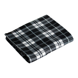 Blancho Bedding - Coral Fleece Throw Blanket, Black and White Plaid - The Coral Fleece Throw Blanket measures 71 by 79 inches. Whether you are adding the final touch to your bedroom or rec-room, these patterns will add a little whimsy to your decor. Machine wash and tumble dry for easy care. Will look and feel as good as new after multiple washings! This blanket adds a decorative touch to your decor at an exceptional value. Comfort, warmth and stylish designs. This throw blanket will make a fun additional to any room and are beautiful draped over a sofa, chair, bottom of your bed and handy to grab and snuggle up in when there is a chill in the air. They are the perfect gift for any occasion!