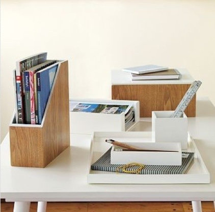 contemporary desk accessories by West Elm