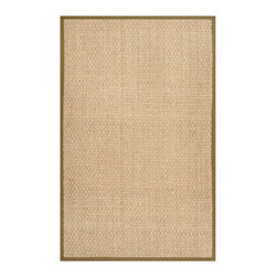 Safavieh - Connelly Natural Fiber Rug, Natural. Olive 2' X 3' - Construction Method: Power Loomed. Country of Origin: China. Care Instructions: Vacuum Regularly To Prevent Dust And Crumbs From Settling Into The Roots Of The Fibers. Avoid Direct And Continuous Exposure To Sunlight. Use Rug Protectors Under The Legs Of Heavy Furniture To Avoid Flattening Piles. Do Not Pull Loose Ends; Clip Them With Scissors To Remove. Turn Carpet Occasionally To Equalize Wear. Remove Spills Immediately. Hand-woven with natural fibers, this casual area rug is innately soft and durable. This densely woven rug will add a warm accent and feel to any home. The natural latex backing adds durability and helps hold the rug in place.