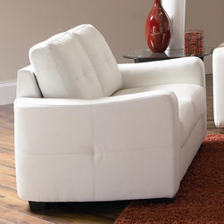 Jasmine Leather Love Seat by Coaster - Dimensions:
