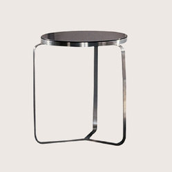 Soho Concept - METRO END TABLE ROUNDGLASS - METRO-END-TABLE-ROUND-GLASS