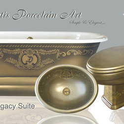 "Hand Painted Bathtubs by Atlantis - ""Bronze Legacy Suite"""