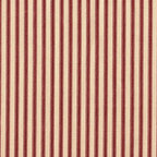 "Close to Custom Linens - 18"" Bed Skirt Gathered Crimson Ticking Stripe - Adding flounces and finishing touches to the top of the bed is sort of skirting the issue. In order to complete the look, you really need a bed skirt, and the more versatile the better. That's where this gathered bed skirt comes in. It has a simple vintage ticking stripe, so you can change your other bedroom prints to your heart's content, and it will all look fabulous."