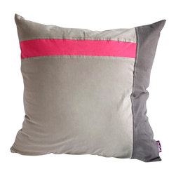 Blancho Bedding - [Gray Demon] Knitted Fabric Patch Work Pillow Floor Cushion 19.7 by 19.7 inches - Aesthetics and Functionality Combined. Hug and wrap your arms around this stylish decorative pillow measuring 19.7 by 19.7 inches, offering a sense of warmth and comfort to home buddies and outdoors people alike. Find a friend in its team of skilled and creative designers as they seek to use materials only of the highest quality. This art pillow by Onitiva features contemporary design, modern elegance and fine construction. The pillow is made to have invisible zippers, knitted fabric shells and fill-down alternative. The rich look and feel, extraordinary textures and vivid colors of this comfy pillow transforms an ordinary, dull room into an exciting and luxurious place for rest and recreation. Suitable for your living room, bedroom, office and patio. It will surely add a touch of life, variety and magic to any rooms in your home. The pillow has a hidden side zipper to remove the center fill for easy washing of the cover if needed.