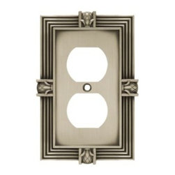 Liberty Hardware - Liberty Hardware 64462 Pineapple WP Collection 3.15 Inch Switch Plate - A simple change can make a huge impact on the look and feel of any room. Change out your old wall plates and give any room a brand new feel. Experience the look of a quality Liberty Hardware wall plate. Width - 3.15 Inch, Height - 4.9 Inch, Projection - 0.3 Inch, Finish - Brushed Satin Pewter, Weight - 0.32 Lbs.