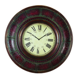 Benzara - Wood Wall Clock with 36in. Diameter - Wall decor with great utility. Support your existing wall decor with 89224 Wood WALL CLOCK that comes with 36 inch round Dial. It is an excellent anytime low priced wall decor upgrade option with great utility for everyone. Just have a look over this eye catching clock, you will fall in instant love with its beauty.