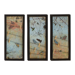Benzara - Modern and Classic Inspired Style Metal Wall 3 Assorted Home Decor - Description: