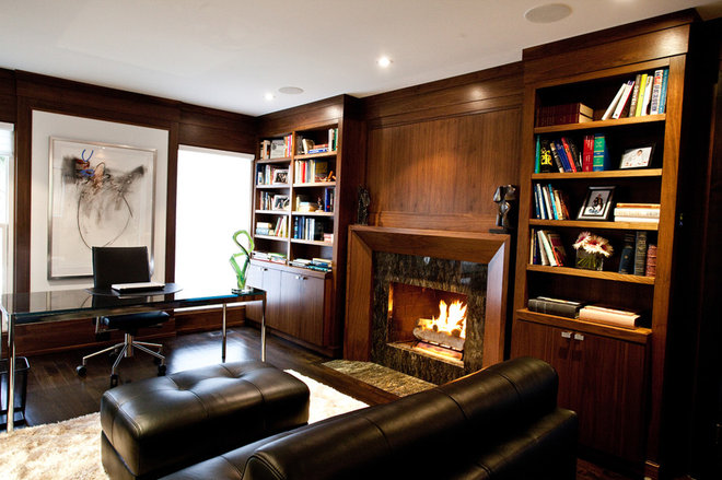 Contemporary Home Office by Jodie Rosen Design