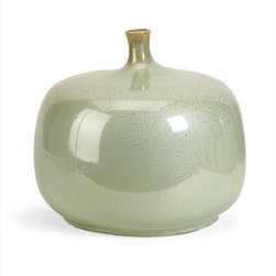 "Imax Worldwide Home - Massey Short Vase - The Massey Vase is sure to be a statement in anyone's home. The variegated greens and rotund shape demand attention! Earthy and warm, this bowl make a perfect gift or decorative accent. For a coordinated look purchase matching bowl and vase.; Country of Origin: China; Weight: 8.8 lbs; Dimensions: 11.75""h x 13.5""d"