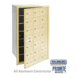 Salsbury Industries - 4B+ Horizontal Mailbox (Includes Master Commercial Lock) - 21 A Doors (20 usable - 4B+ Horizontal Mailbox (Includes Master Commercial Lock) - 21 A Doors (20 usable) - Sandstone - Front Loading - Private Access