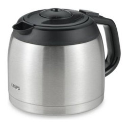 Krups - Krups FMF 10-Cup Thermal Stainless Steel Replacement Carafe - Thermal stainless steel replacement carafe is for use with Krups FMF coffee machine.