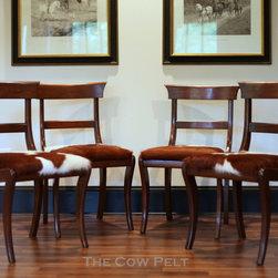 English Regency Cowhide Chairs - ML McManus