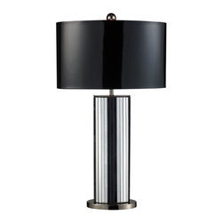 Dimond Lighting - D1893-LED Shreve Table Lamp, Mirrored and Black Nickel - Modern Contempo Table Lamp in Mirrored and Black Nickel from the Shreve Collection by Dimond Lighting.