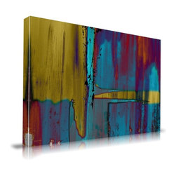 """Apt2B - Negatives' Print by Maxwell Dickson, 24"""" x 36 - The beauty and intensity of contemporary abstraction is stunningly captured in this exacting, affordable reproduction. Printed in Los Angeles on archival-quality stretched canvas, this handsome work radiates all the vibrancy of the original image."""