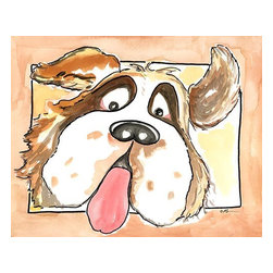 Oh How Cute Kids by Serena Bowman - Welcome Home - Saint Bernard, Ready To Hang Canvas Kid's Wall Decor, 8 X 10 - Each kid is unique in his/her own way, so why shouldn't their wall decor be as well! With our extensive selection of canvas wall art for kids, from princesses to spaceships, from cowboys to traveling girls, we'll help you find that perfect piece for your special one.  Or you can fill the entire room with our imaginative art; every canvas is part of a coordinated series, an easy way to provide a complete and unified look for any room.