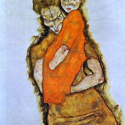 """Art MegaMart - Egon Schiele Mother and Child - 18"""" x 27"""" Premium Canvas Print - 18"""" x 27"""" Egon Schiele Mother and Child premium canvas print reproduced to meet museum quality standards. Our museum quality canvas prints are produced using high-precision print technology for a more accurate reproduction printed on high quality canvas with fade-resistant, archival inks. Our progressive business model allows us to offer works of art to you at the best wholesale pricing, significantly less than art gallery prices, affordable to all. We present a comprehensive collection of exceptional canvas art reproductions by Egon Schiele."""