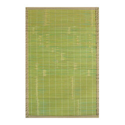 Anji Mountain Collection Key West 7'x10' - Our Mountain Collection Bamboo Rugs are crafted from eco-friendly bamboo harvested from sustainable forests.  The bamboo is kiln-dried,then planed and sanded for a smooth finish.  The patented, ventilated, non-slip rug pad backing cushions the rug, and keeps it in place. Also available in these other fashionable designs: Pearl River, Cobblestone, Contemporary Natural, Contemporary Chocolate, Contemporary Rainbow, and Premier.    Other sizes available: 2'x3', 4'x6', 5'x8', 7'x10'