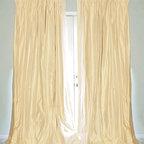 Drea' Custom Designs - Cream silk dupioni drapes curtains - Cream silk dupioni drapes, fully lined with thick flannel interlining, and blackout lining.