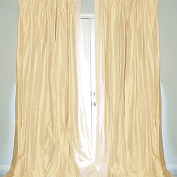Drea' Custom Designs - Cream silk dupioni drapes curtains - Cream silk dupioni drapes, fully lined with thick flannel interlining, and blackout lining.