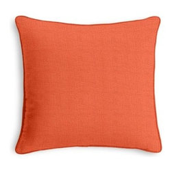 Soft Coral Lightweight Linen Custom Throw Pillow - Black and white photos, Louis XIV chairs, crown molding: classic is always classy. So it is with this long-time decorator's favorite: the Corded Throw Pillow. We love it in this lightweight pure linen with thin characteristic slubs in a light coral that works well with just about every color of the rainbow.