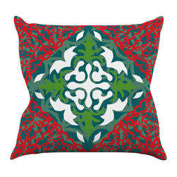 "Kess InHouse - Miranda Mol ""Lace Flakes"" Throw Pillow (18"" x 18"") - Rest among the art you love. Transform your hang out room into a hip gallery, that's also comfortable. With this pillow you can create an environment that reflects your unique style. It's amazing what a throw pillow can do to complete a room. (Kess InHouse is not responsible for pillow fighting that may occur as the result of creative stimulation)."