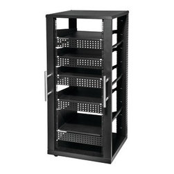 "Peerless - PEERLESS-AV AVL A/V Component Rack System (5 Shelves) - � Compatible with most 19"" rack accessories;� Integrated cable management clips assist with routing multiple cable bundles;� Rubber casters provide easy placement inside closets or against walls;� Includes 5 shelves"