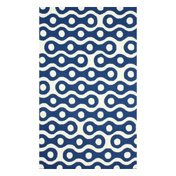"""nuLOOM - 3' 6""""x5' 6"""" Blue Hand Hooked Area Rug HK95 - Made from the finest materials in the world and with the uttermost care, our rugs are a great addition to your home."""