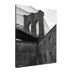 Ready2HangArt - Ready2HangArt Bruce Bain 'Brooklyn Bridge 4' Canvas Wall Art - This beautiful canvas wall art is from photographer Bruce Bain. His work employs elements of imagination to capture a variety of subjects. It is fully finished, arriving ready to hang on the wall of your choice.